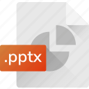 extension, file, format, powerpoint, pptx, system file icon
