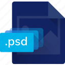 extension, file, format, photoshop, psd, system file icon
