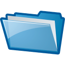 folder, blue
