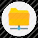 data, folder, ftp, network icon
