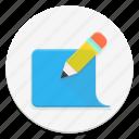 blog, edit, message, pencil icon