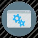 cms, gear, setting, web icon