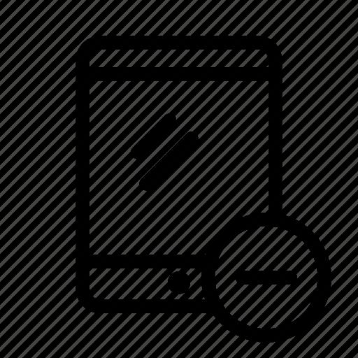 delete, device, remove, tablet icon