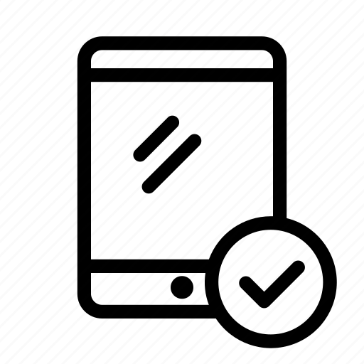 Check, check mark, device, ok, tablet icon - Download on Iconfinder