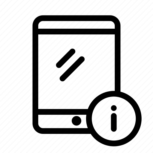 device, info, information, tablet icon