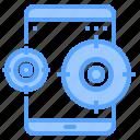 application, battery, lock, tablet, unlock, upload, worldwide icon
