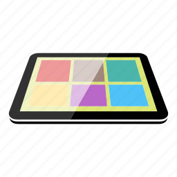 applications, apps, device, high tech, tablet, technology icon