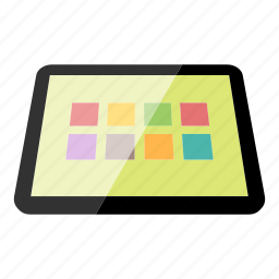 apps, device, electronics, high tech, tablet, technology icon