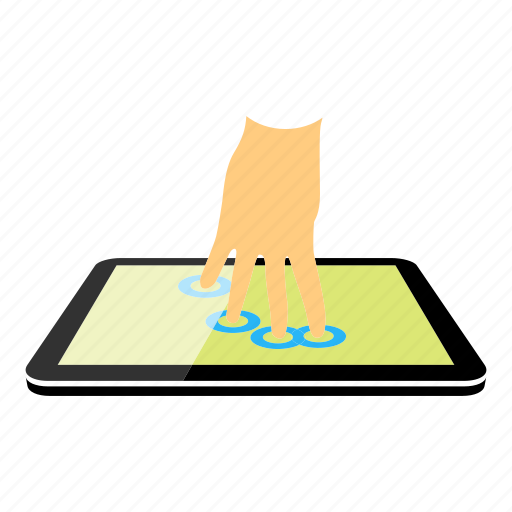four fingers, tablet icon