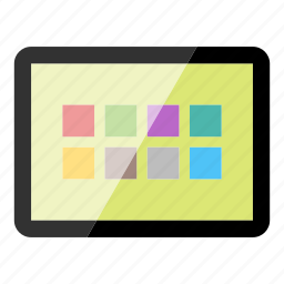 applications, apps, device, electronics, tablet, technology icon