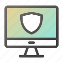 computer, device, mobile, monitor, safe, screen icon