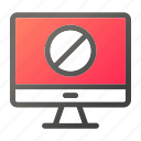 block, computer, device, forbidden, mobile, monitor, screen icon