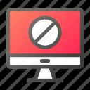 block, computer, device, forbidden, mobile, monitor, screen