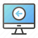 computer, device, left, mobile, monitor, screen icon