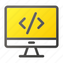 code, computer, device, mobile, monitor, screen, script icon
