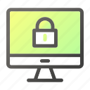 computer, device, mobile, monitor, screen, secure, security icon