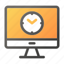 computer, device, mobile, monitor, screen, timer icon