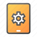computer, gear, mobile, setting, tablet icon