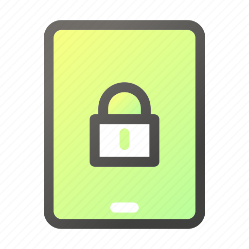 computer, device, mobile, padlock, phone, tablet icon