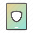 computer, device, mobile, phone, safe, shield, tablet icon