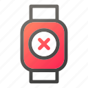 delete, device, mobile, smart, watch icon