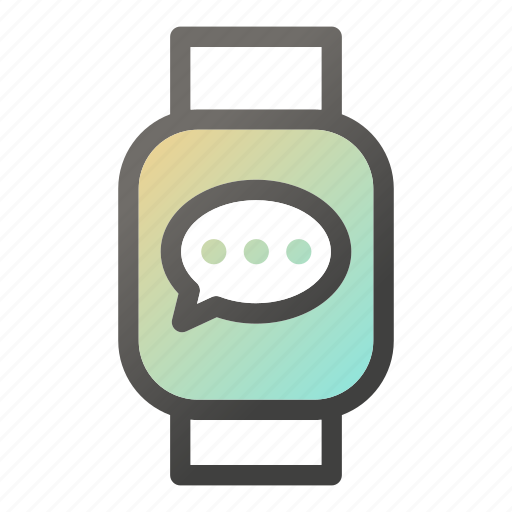 bubble, chat, device, mobile, smart, watch icon