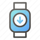 device, download, mobile, smart, watch icon