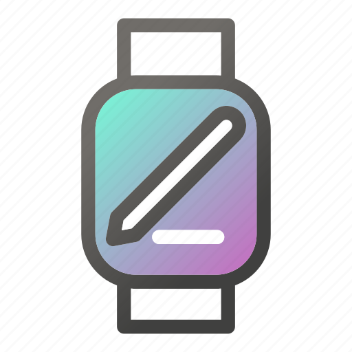 device, edit, mobile, smart, watch icon