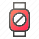 block, device, forbidden, mobile, smart, watch icon