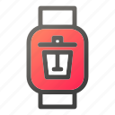 device, garbage, mobile, smart, watch icon