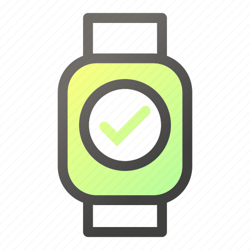 device, mobile, ok, smart, update, watch icon