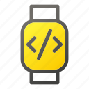 device, mobile, script, smart, watch icon
