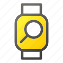 device, mobile, search, smart, watch icon