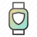 device, mobile, shield, smart, watch icon