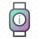 device, mobile, smart, support, watch icon