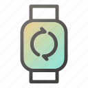 device, mobile, smart, sync, watch icon