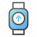 device, mobile, smart, upload, watch icon