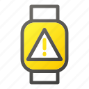 device, mark, mobile, smart, triangle, watchexclamation icon