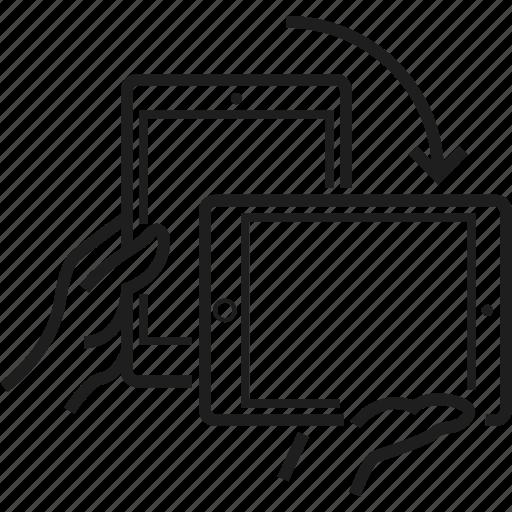 horizontal, landscape, portrait, rotate, tablet, turn, vertical icon