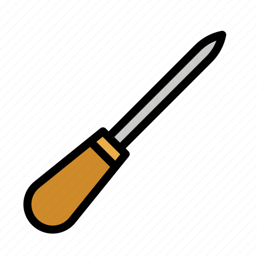 awl, equipment, sewing, tailor, tool icon