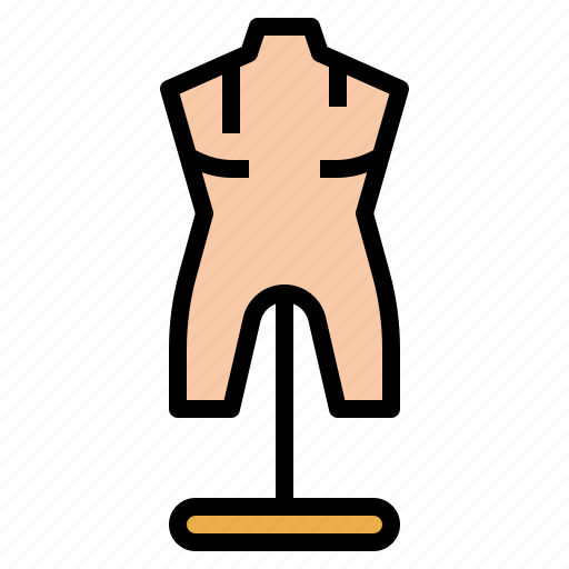 dummy, mannequin, tailor, taylor, tool icon