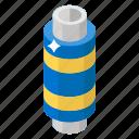 sewing thread, spool of yarn, thread, thread reel, thread roll, thread spool icon