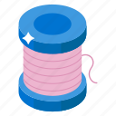 sewing thread, thread, thread reel, thread roll, thread spool icon