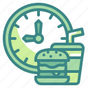 time, breakfast, clock, meals, eating