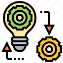 management, strategy, change, process, transition icon