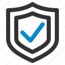 antivirus, check, checkmark, protection, safety, security, shield icon