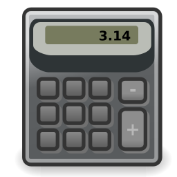 accessories, calculator icon
