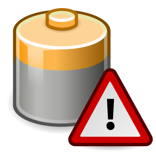 battery, caution icon
