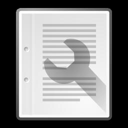 document, properties icon