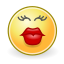 face, kiss icon